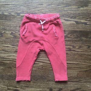 Zara Red drawstring Pants